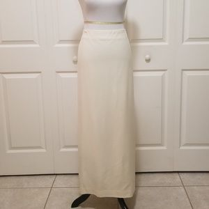 Talbots NWT Ivory Wool Maxi Skirt